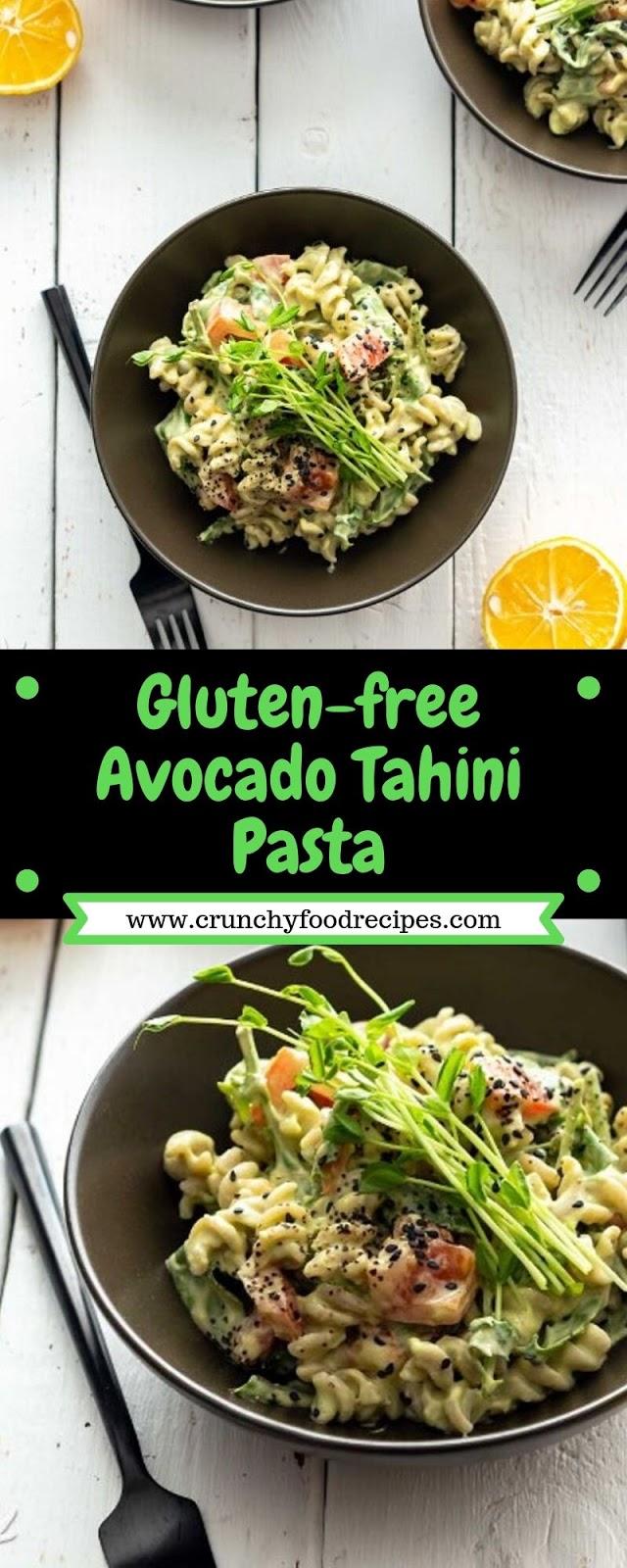 Gluten-free Avocado Tahini Pasta