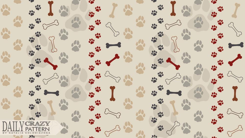 Dog paw pattern
