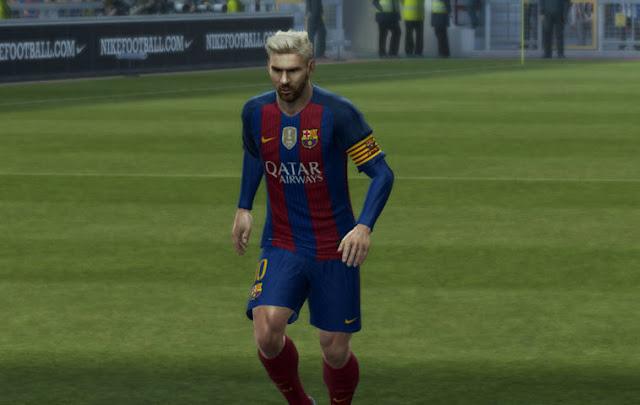 PES 2013 Barcelona Kit Season 2016-2017