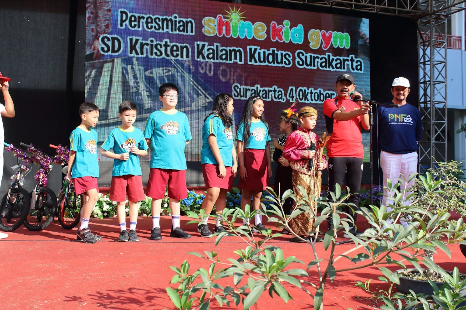 Peresmian Shine Kid Gym SD Kalam Kudus
