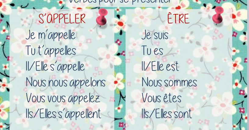 Parle En Francais Etre S Appeler