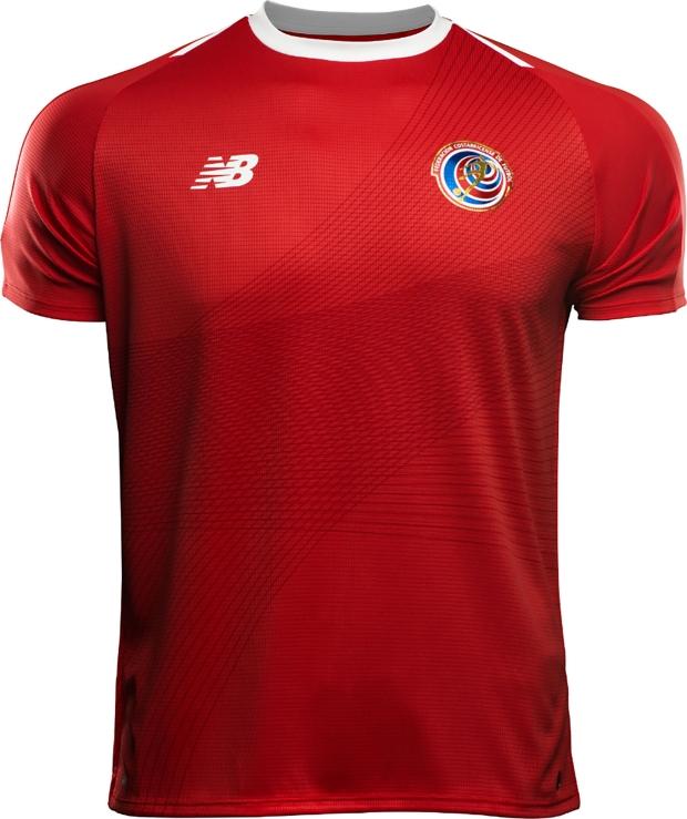 New Balance lança a camisa titular da Costa Rica para a Copa do Mundo 447b9c5582bbc