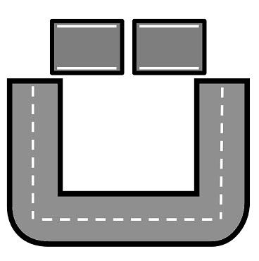 نشاط المشي علي التراك ( المسار ) لشكل الحرف