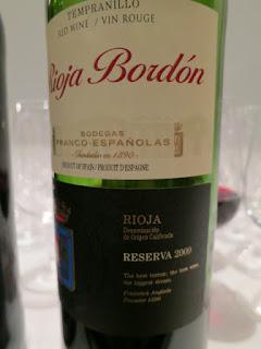 Rioja Bordón Reserva 2009 - DOCa Rioja, Spain (88 pts)