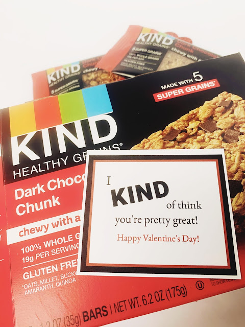 KIND Bar Pun Valentines @michellepaigeblogs.com