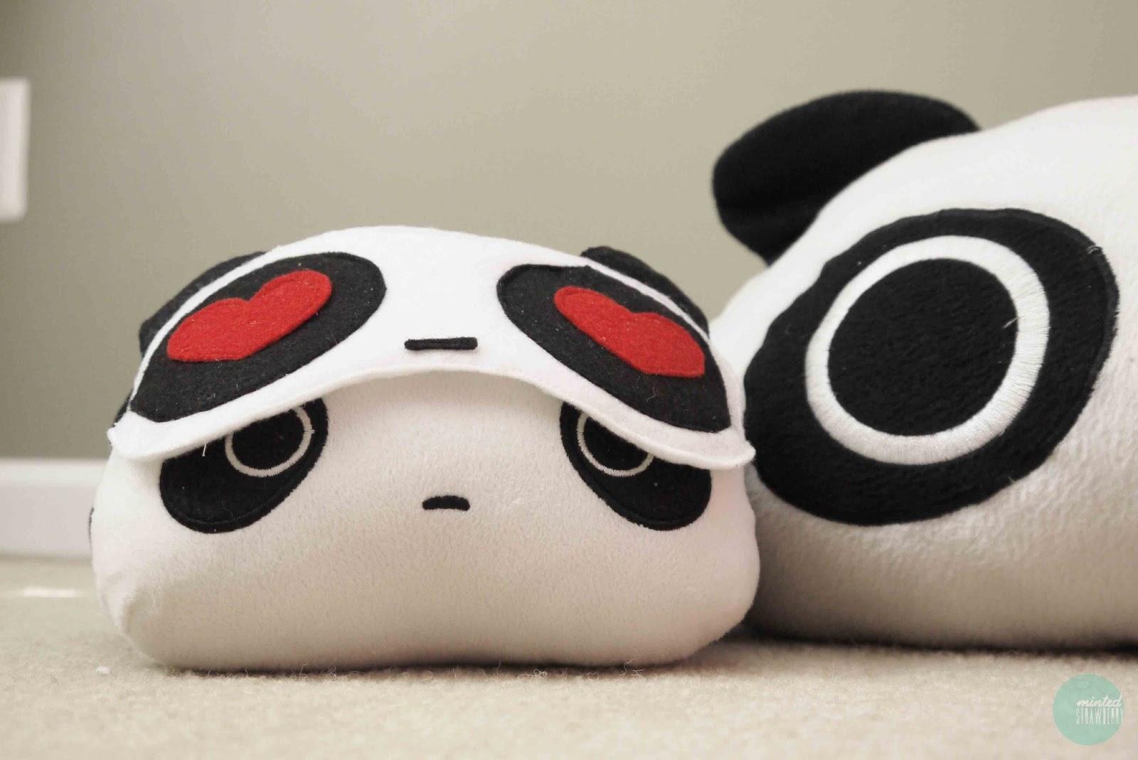 Diy Panda In Love Sleeping Mask Minted Strawberry