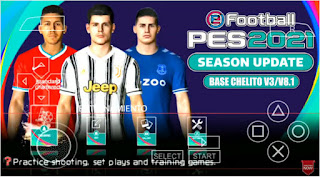 Download PES 2021 PPSSPP Base Chelito V3/V8.1 English Version Graphics HD & Real Face Kits