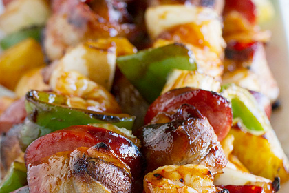 Sausage and Shrimp Kabobs