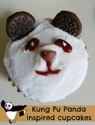 Kung Fu Panda Inspired Cupcakes