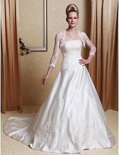 vestidos de novia con manga para gorditas