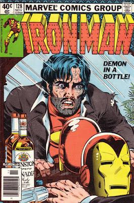 Iron Man #128, Demon in a Bottle, Tony Stark - alcoholic