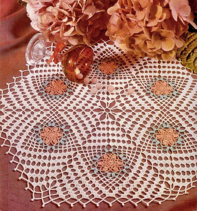 Doily Crochet Pattern Using A Triangle Motif
