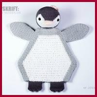 Pinguino de apego a crochet