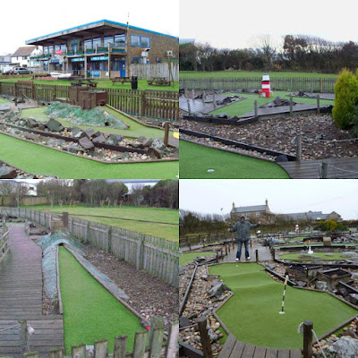 Crazy Golf course in Seahouses, Northumberland
