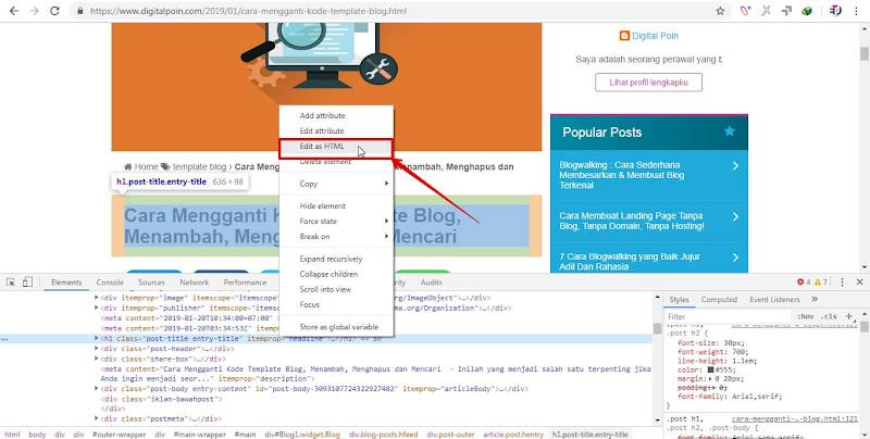 Cara Mengetahui Kode Blog