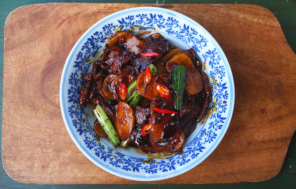 Seasaltwithfood: Stir-Fry Beef With Ginger And Scallion Rice Cakes