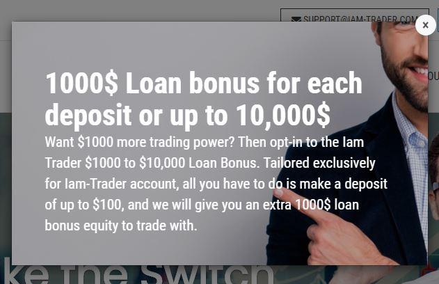 Bonus Deposit Iam Trader - Deposit $100 Get Bonus $1000