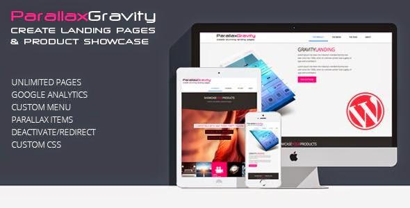 CodeCanyon - Parallax Gravity - Landing Page Builder v1 2 wordpress