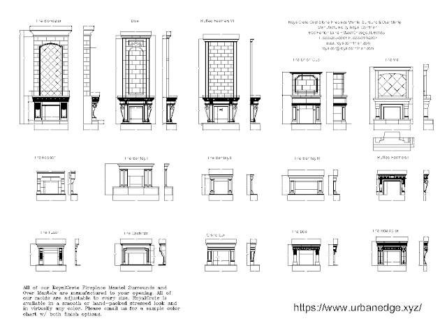 Fireplaces free dwg autocad drawing blocks download - 30+ Dwg Models