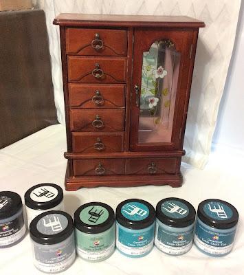 chalk paint upcycle jewelry box drawers Stefanie Girard