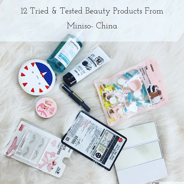 treid and tested beauty products Miniso