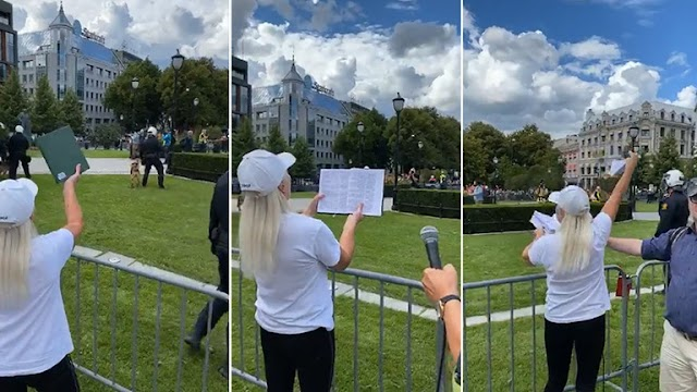 World  : A Norwegian anti-Islam group staged a protest on Saturday, culminating in an activist tearing pages from a Koran.