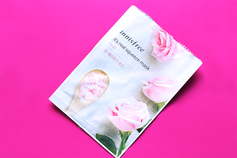 Innisfree It's Real Squeeze Mask Rose review