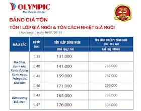 Giá mái tôn giả ngói cách nhiệt Olympic
