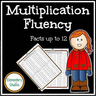 Multiplication Facts Fluency for Grade 3