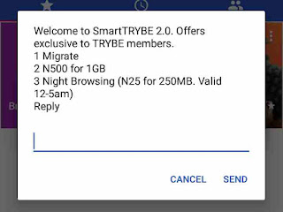 Airtel SmartTrybe amazing offers on the pop up window