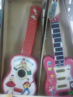 Kids 4 String Acoustic Guitar and Electronic Guitar