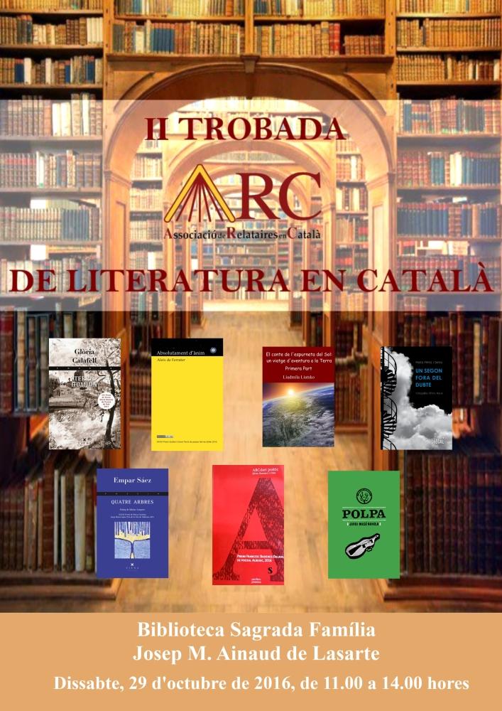 Pòster II Trobada ARC de Literatura en Català