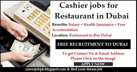 Cashier jobs for Restaurant in Dubai