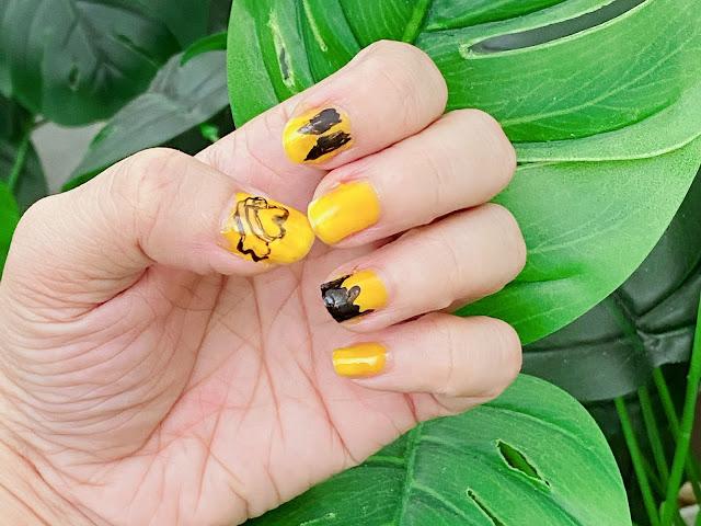 BTS' BUTTER Inspired nail art tutorial.