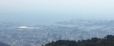 六甲ケーブル駅展望台からの景色
