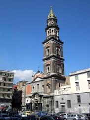 The Basilica of Santa Maria del Carmine overlooks the square
