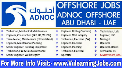 ADNOC Offshore (ZADCO)  Careers & Jobs 2019 In Middle East