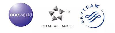oneworld寰宇一家/star alliance星空聯盟/skyteam天合聯盟
