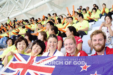 Supporting teams from 63 countries including Oceanian teams at the Summer Universiade held in Gwangju, Korea (10,000 man-days)