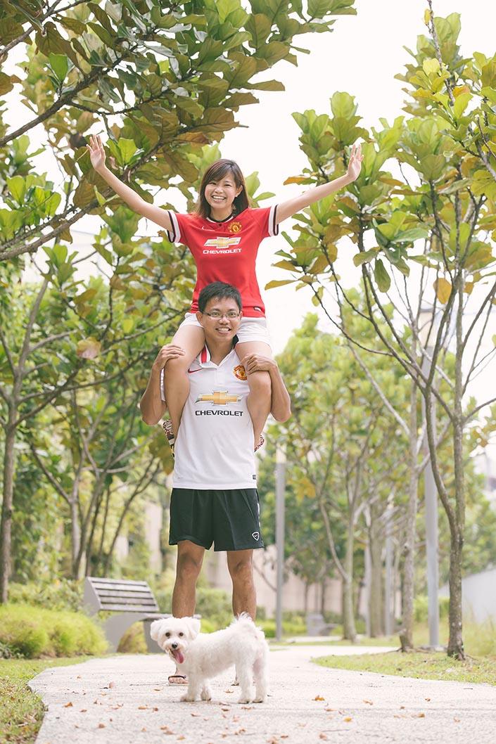 u Chze & Serena Pre-Wedding Photoshoot at Punggol Waterway.