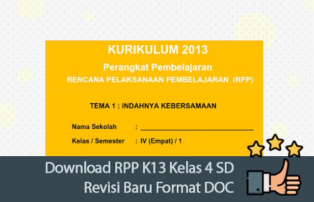 RPP K13 Kelas 4 SD