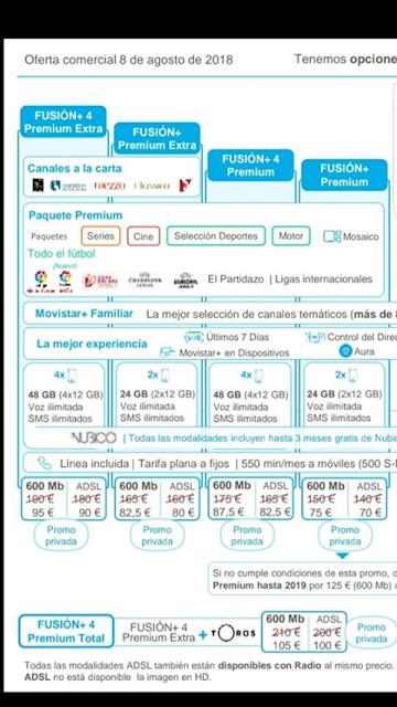 Promoción Privada de Movistar que se oferta también desde tiendas