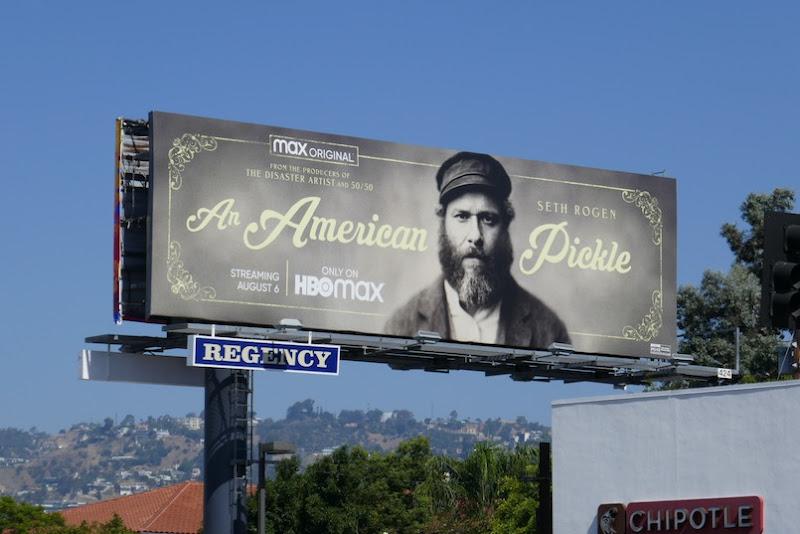 An American Pickle HBO Max billboard