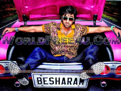 Poster Of Bollywood Movie Besharam (2013) 300MB Compressed Small Size Pc Movie Free Download worldfree4u.com