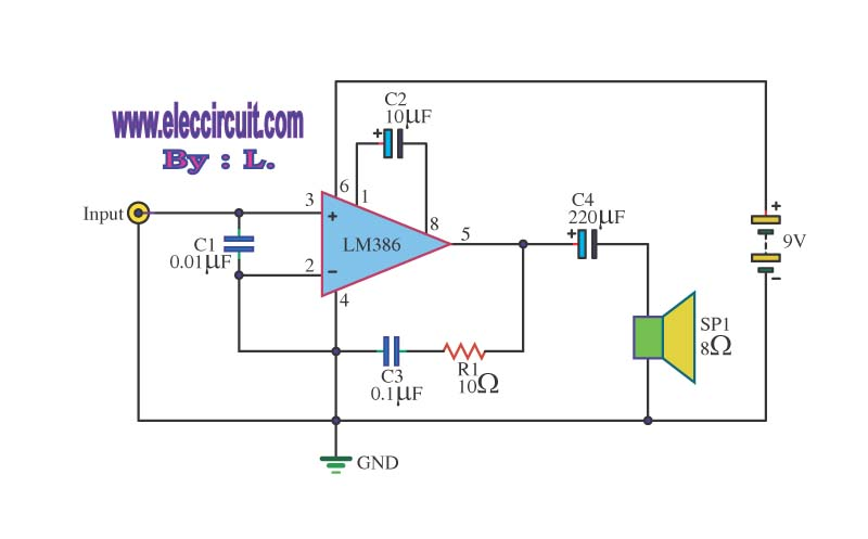 9 volt battery circuit diagram