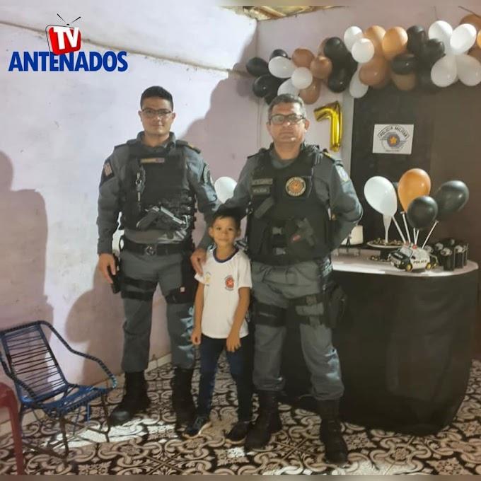 Policiais Militares de Mata Roma realizam o sonho de criança