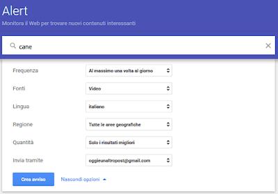 Come creare un avviso su google