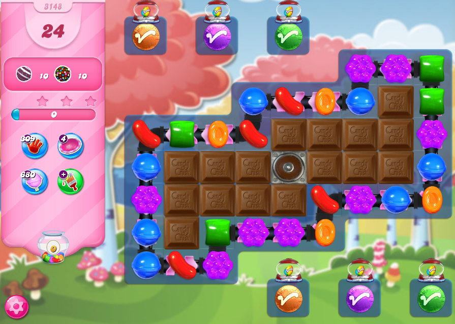 Candy Crush Saga level 3148