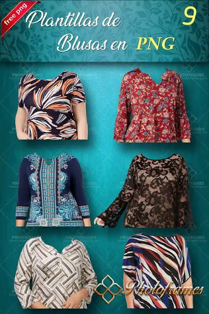 Nuevo pack de blusas para mujer en PNG