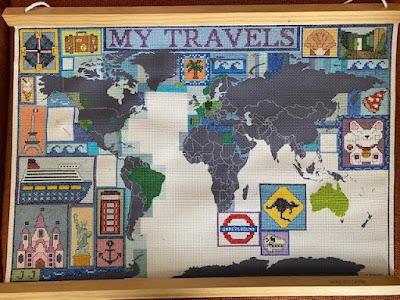 Suck UK cross stitch map in progress